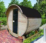 Fasssauna Garten Sauna Fass Holz g�nstig Saunah�user